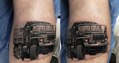 Military Convoy Tattoo