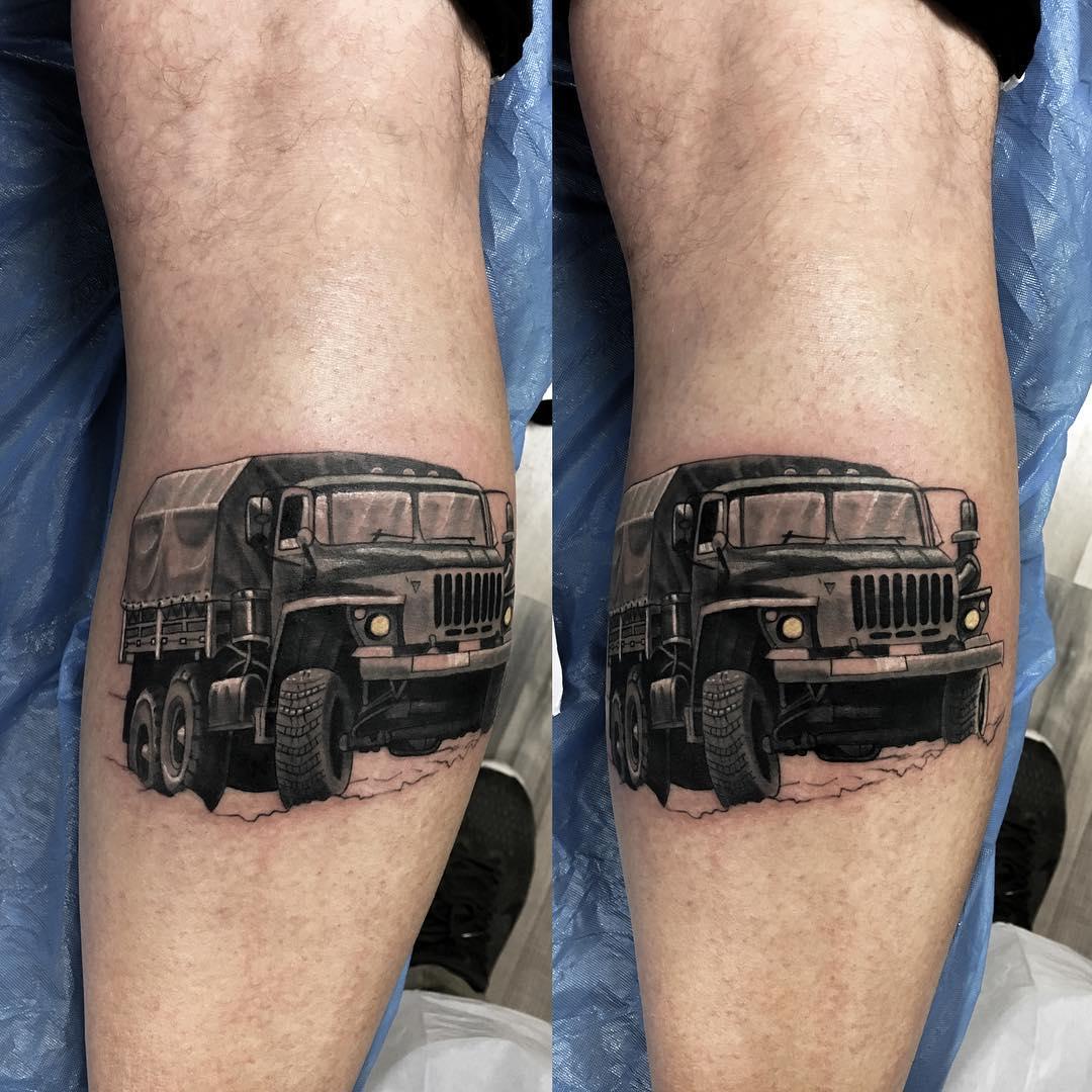 Military Convoy Tattoo