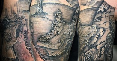 Navy Globe Tattoo
