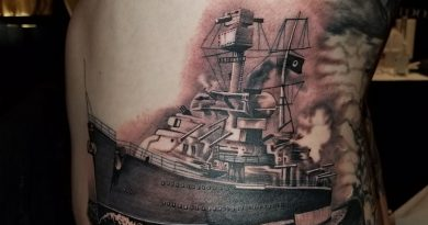 Navy Ship Sailing Tattoo
