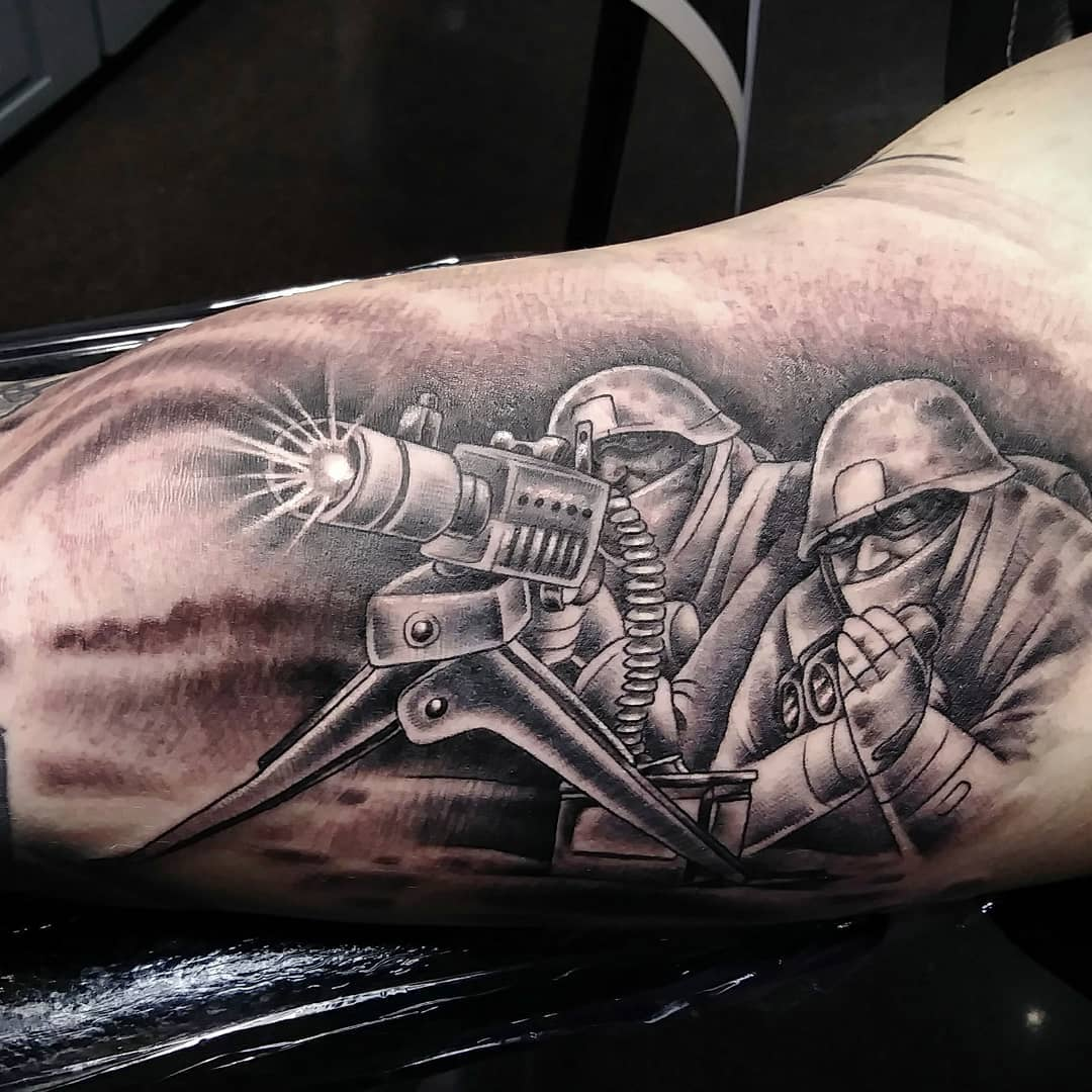 Military Undercover Arm Tattoo