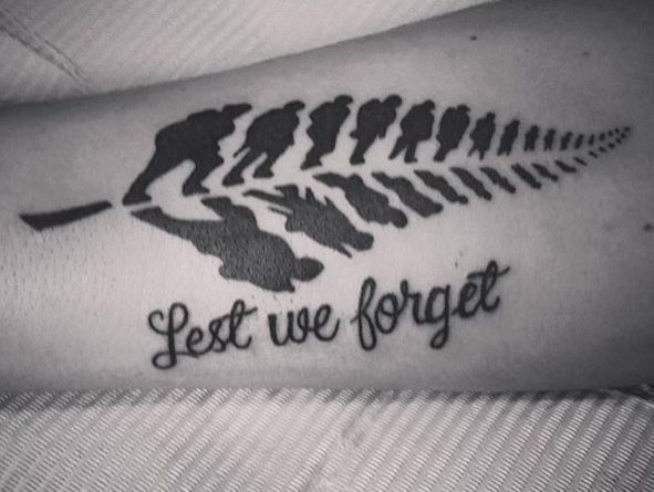 Veteran Feather Arm Tattoo