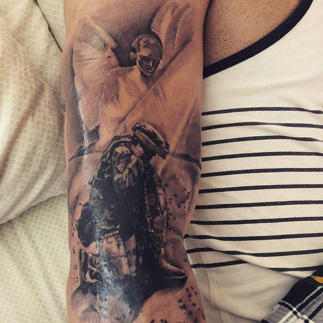 Army Veteran Angel Tattoo