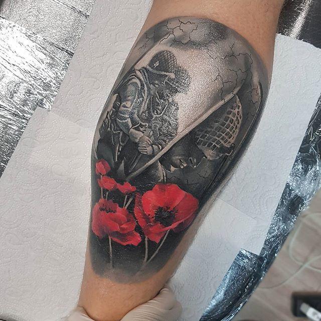 Army Veteran Soldiers Tattoo