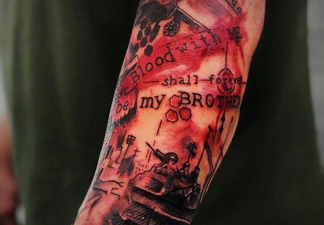 Military Brother Bond Tattoo