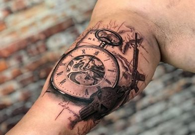 Military Compass Map Tattoo