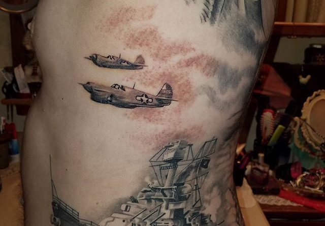 Naval Fleet Body Tattoo