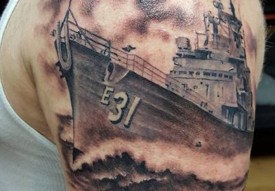 USS Navy Ship Tattoo