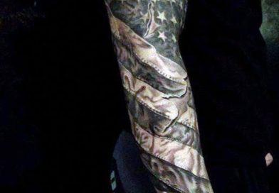 American Flag Sleeve Tattoo