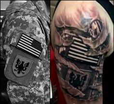 Tattered Army Tattoo